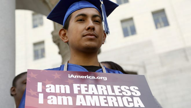 Immigrant Jose Montes attends at an event on Deferred Action for Childhood Arrivals.