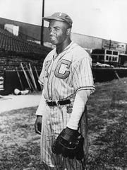 Baseball legend Jackie Robinson as a member of the Kansas City Monarchs in 1945.