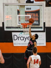 Dover's Keith Davis lays it in as Palmyra defeated