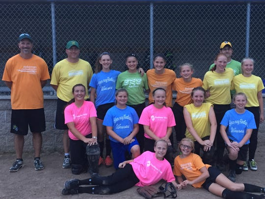 The D.C. Everest Fast Pitch 12U All-Star team beat a Wausau All-Star team earlier this week. Pictured are Everest team members Alonna Weix, front left to right, Cassidy Eckes.Calista Fuehrer, middle row left to right, Maddie Zich, Abby Duffrin, Ally Zimmerman, Taylor Konkel. Coach Matt Rahn, back row left to right, Coach Garrett Kislow, Scout Kirshy, McKenna Hammond, Hayley Schmidt, Bethany Rahn, Paige Kislow, Coach Lennie Hammond, Jasmine Madden.