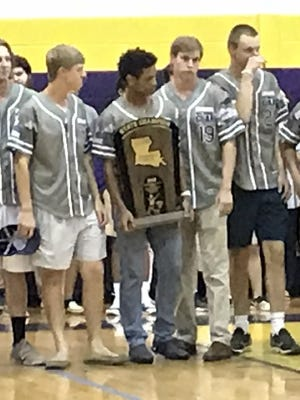 The Benton baseball team was recognized Wednesday in a pep rally at the school.