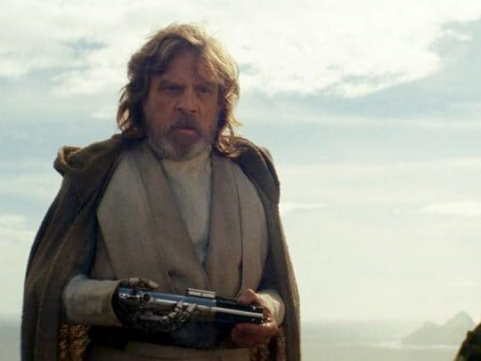 Mark Hamill reprises the role of Luke Skywalker in