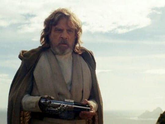 "Mark Hamill reprises the role of Luke Skywalker in ""Star Wars: The Last Jedi."""