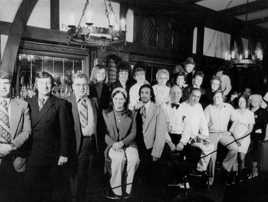 May 5, 1973: Employees and others bid farewell to the