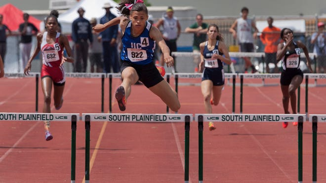 Union Catholic's Sydney McLaughlin became the first girl to win state titles in both hurdle races.