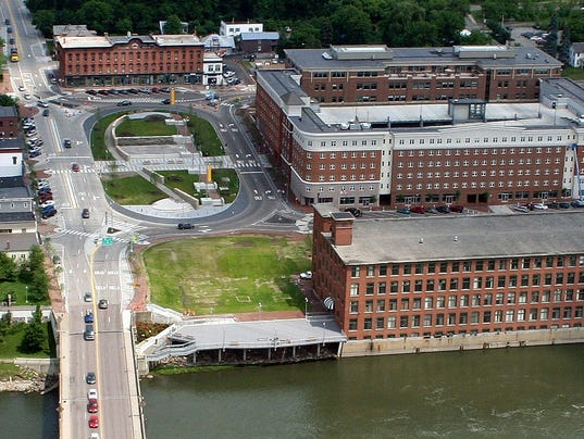 Shown Here Among The Champlain Mill Main Street Roundabout And Winooski River Is Proposed Site For A New Hotel In Downtown