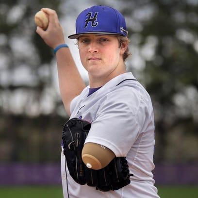 Haywood High School pitcher Landon Wilson poses for