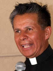 Father Manuel Ibarra welcomed guests to the second