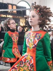 McGinley School of Irish Dance performs at Central Market before the 34th Annual York Saint Patrick's Day Parade, Saturday, March 11, 2017. Amanda J. Cain photo