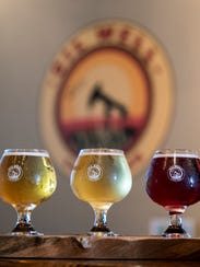 A tasting flight from Oil Well Craft Beer - Oil Well
