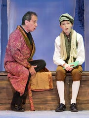 Mark Collmer and Aren Duffy in Walnut Street Theatre for Kids production of Charles Dickens' 'A Christmas Carol.'