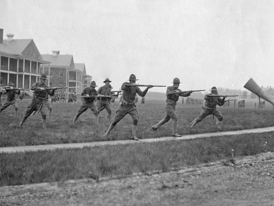 This photo of soldiers  training at Fort Benjamin Harrison