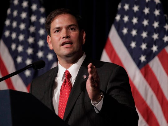 Sen. Marco Rubio, R-Fla., speaks during the Reagan Forum at the Ronald Reagan Presidential Library on Aug. 23, 2011, in Simi Valley, Calif.