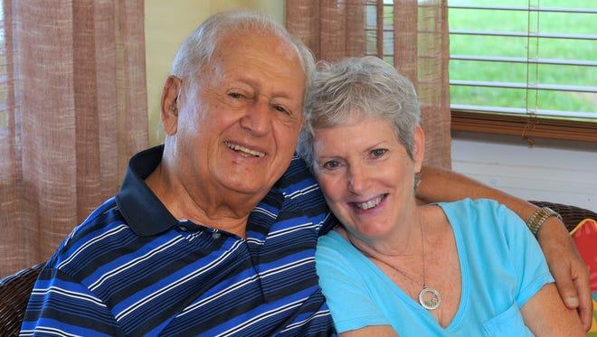 Anne Cope of Viera, with her husband, Nick Milonas, is an ovarian cancer survivor.