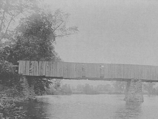 Tabor's Bridge in the Town of Triangle in 1906.