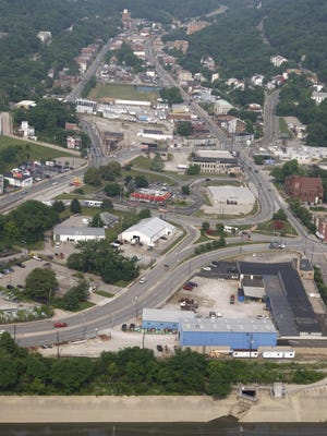 An aerial view of South Fairmount, where the Lick Run sewer project is getting underway. Late changes to the project will cost ratepayers at least another $3 million and possibly as much as $8 million.