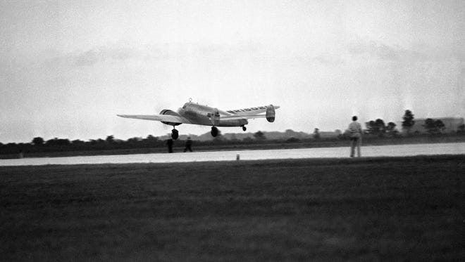 Amelia Earhart takes off June 1, 1937.