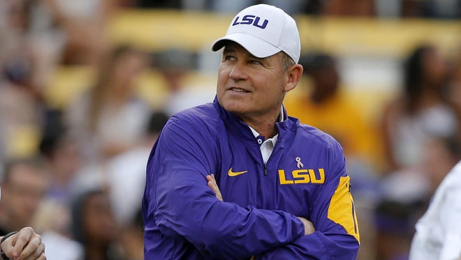 LSU head coach Les Miles has had nine full-time assistant coaches at his disposal during bowl preparations.