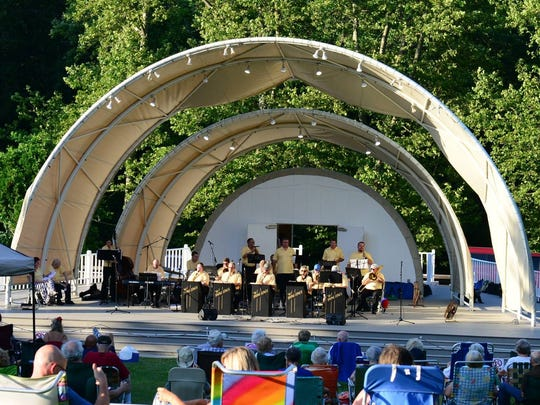 Music fans watch a show at Bellevue State Park, the location of next month's Analog-A-Go-Go music and beer festival. The festival's acts will perform at Bellevue's bandshell.