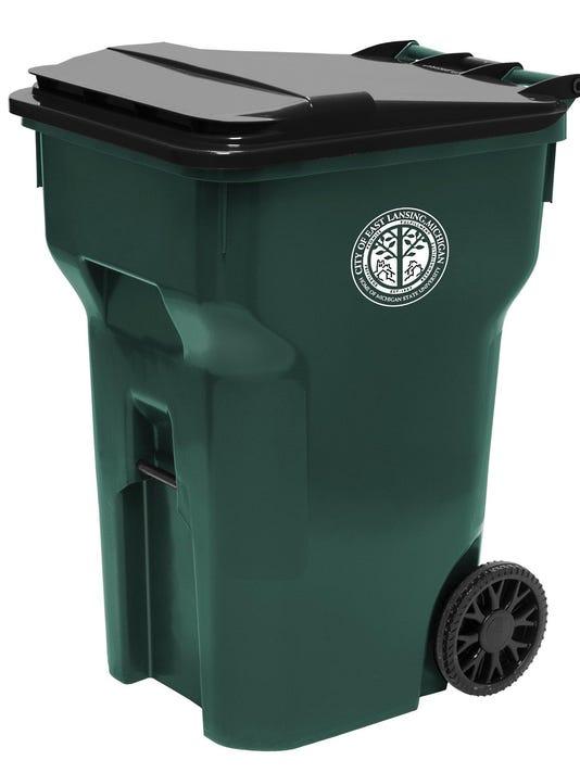 East Lansing recycling cart