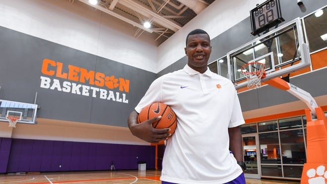 Clemson assistant men's Clemson basketball coach Antonio Reynolds Dean at Clemson's practice facility in Littlejohn Coliseum on Thursday, June 22, 2017.