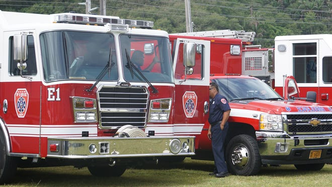Guam Fire Department trucks