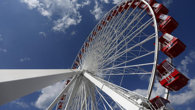 The Branson Ferris Wheel, located along Highway 76 at The Track Family Fun Park, had its grand opening Thursday morning. The 150-foot Ferris Wheel was located in at Chicago's Navy Pier from 1995 until October 2015, where about 17 million people rode it, said Craig Wescott, CEO of The Track.