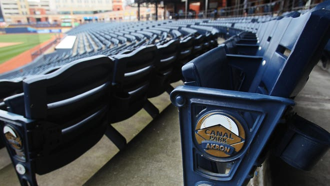 Seats have been ready for fans to cheer on the Akron RubberDucks at Canal Park, but the season has been canceled because of the COVID-19 pandemic.