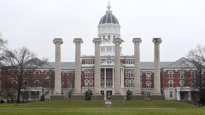 The Francis Quadrangle at the University of Missouri.