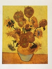 "Van Gogh's ""Sunflowers"" from the Arlesian series."