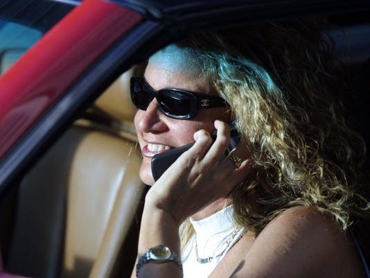 talking on phone driving