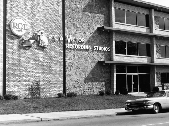 A photo of RCA Studio A taken after the studio opened
