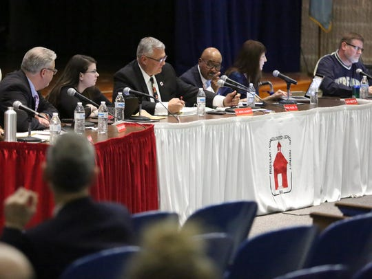 A bill sponsored byPaulBaumbach, D-Newark, would have changed the term for school board members from five years to four years.