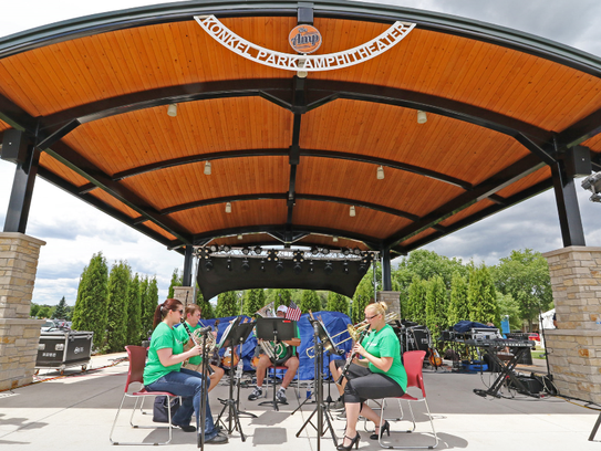 The Greenfield Concert Band Quintet performed as part