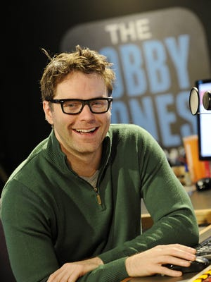 Nationally syndicated country radio personality Bobby Bones relaxes in his Nashville studio Nov. 19, 2014.