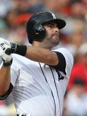 Alex Avila homers against Rays pitcher Chris Archer during the seventh inning on July 5, 2014, at Comerica Park.