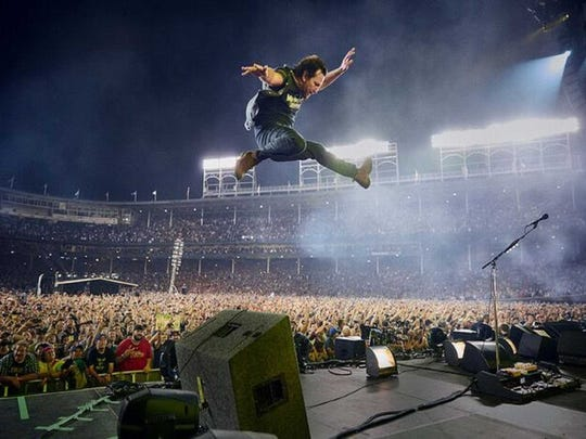 "Pearl Jam, seen playing Wrigley Field (in the concert film ""Pearl Jam: Let's Play Two,"" played a concert that served as an inspiration for Coachella in 1993, but they have never played Coachella."