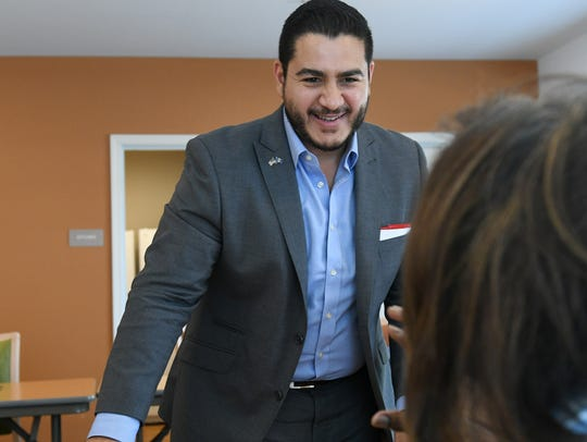 Democratic gubernatorial candidate Abdul Al-Sayed speaks