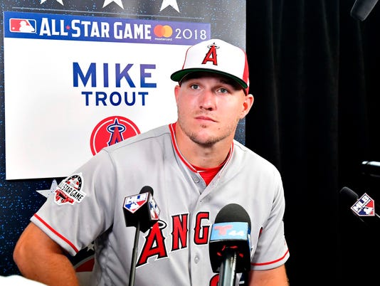 Mlb All Star Game Workouts Mike Trout