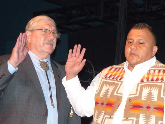 "Mescalero President Arthur ""Butch"" Blazer and Vice"