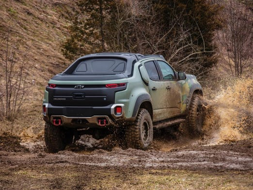 Chevrolet Colorado Fuel Cell Electric Truck Made For U S Army