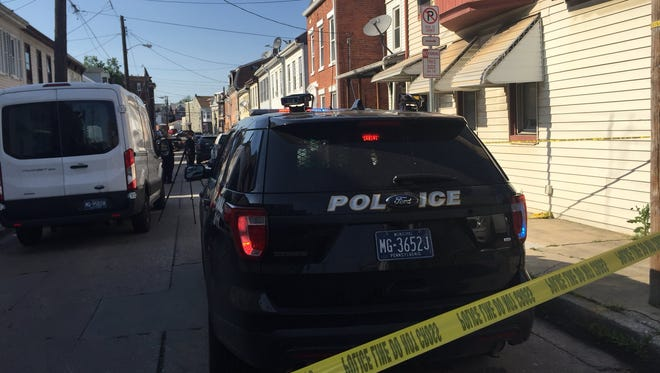 Police are investigating the scene where a man was shot and killed Monday in the first block of North Franklin Street in York.
