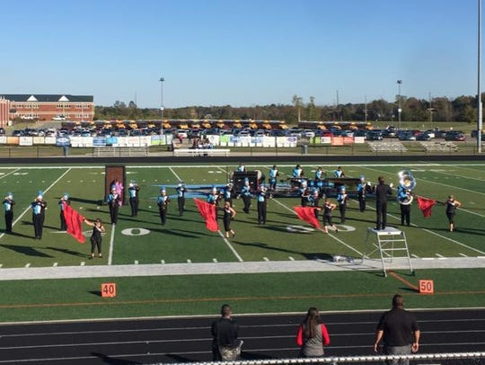 Band of Braves performing at regionals with their show