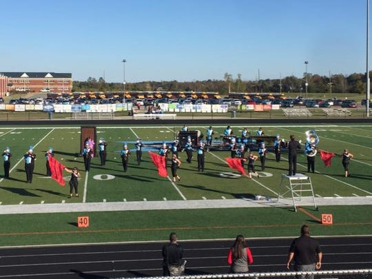 "Band of Braves performing at regionals with their show ""Paranormal."""
