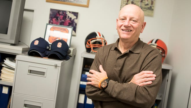 Barry Streeter poses for a portrait in his office in October. Streeter has retired as the Gettysburg Bullets' head coach after 39 seasons as the head coach and 42 years overall.