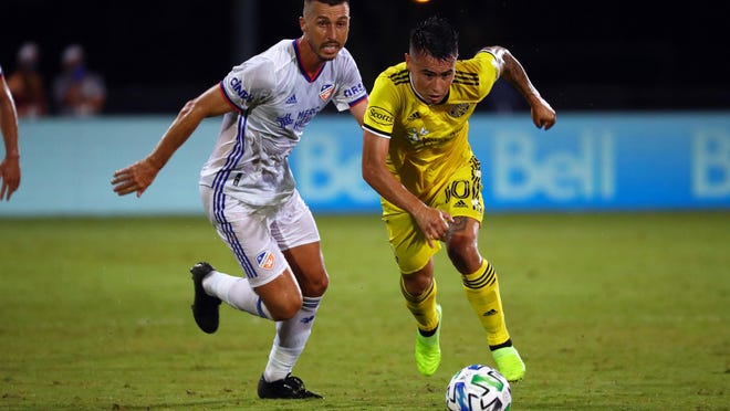 Midfielder Lucas Zelarayan, right, has been a phenomenal addition to the Crew roster, but he's not alone: Coach Caleb Porter and the front office have made a number of smart acquisitions that have helped the Crew go 9-2-7 since July 17, 2019.