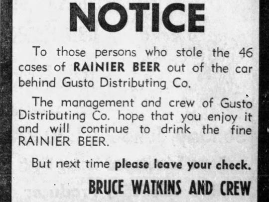 This notice ran in the June 22, 1968 issue of the Great