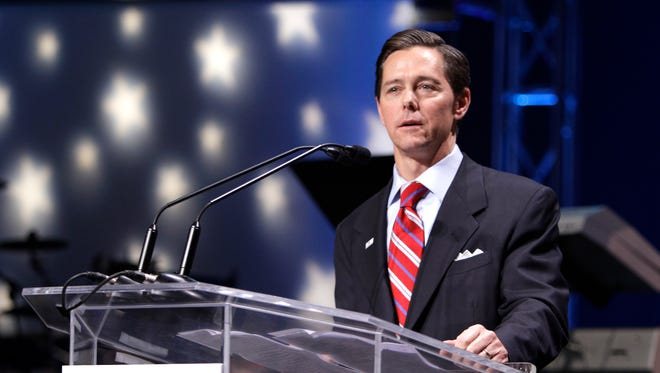 Ralph Reed, president of the national Faith & Freedom Coalition, speaks at the Iowa Faith and Freedom Coalition forum March 7, 2011, at the Point of Grace Church in Waukee, Iowa.