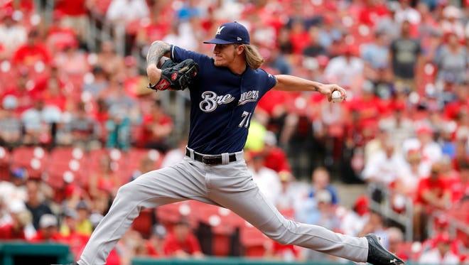 Josh Hader pitched the ninth inning.