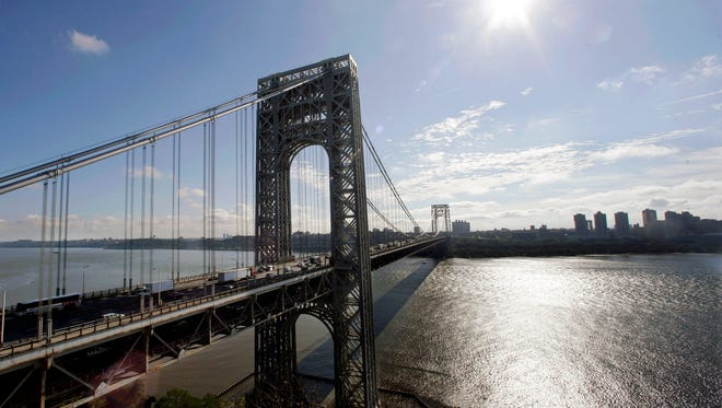 The George Washington Bridge which connects Fort Lee, NJ to Manhattan.